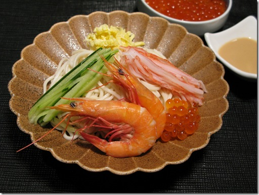 Cold Noodles with Pond Prawns_