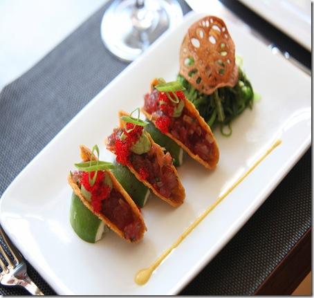 highpoint Tuna Tartare Tacos