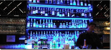 blue caravan bar