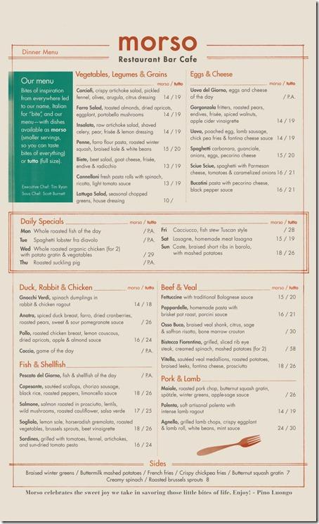 morso menu