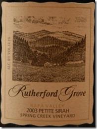 rutherford grove petite sirah