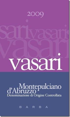 Vasari Montepulciano D'Abruzzo label hi res