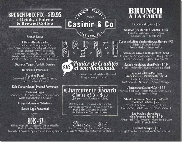 Casimir&Co Menu Brunch - 7.8.13 lo