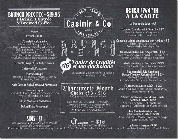 Casimir&Co Menu Brunch - 7.8.13 lo